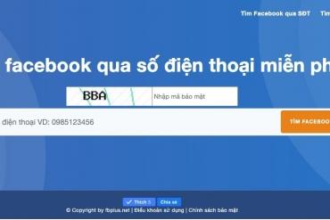 Tìm kiếm facebook qua Số Điện Thoại đơn giản nhất 2020